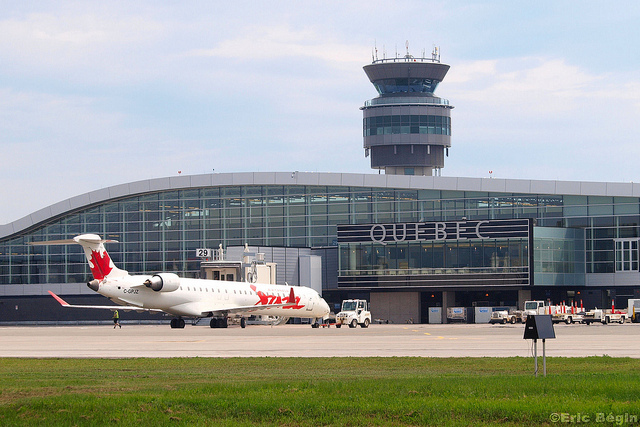 Take cab ride from the Grand Times hotel to the Quebec international airport.