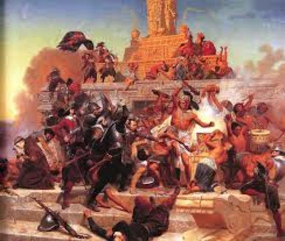Cortez conqueres Aztecs