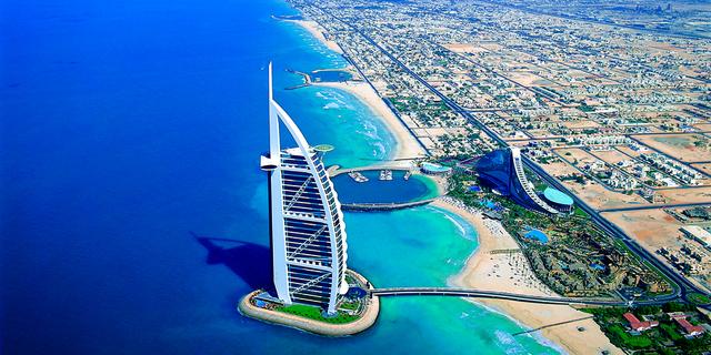 We check into the Burj al Arab