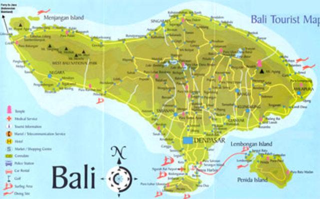 arrive in Bali, Indonesia