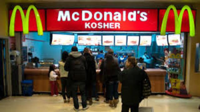 Eat at Kosher McDonalds