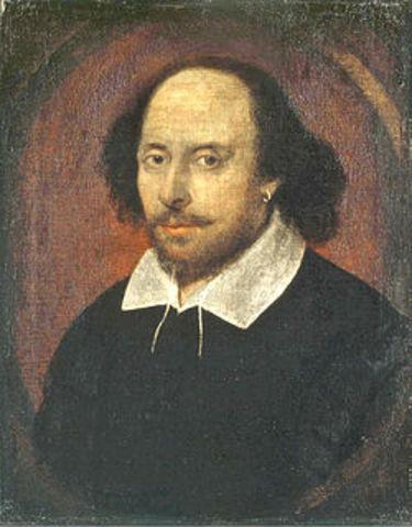 William Shakespeare, the Bard of Avon, is born