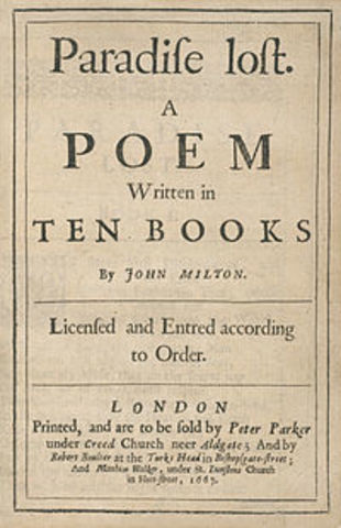 John Milton begins 'Paradise Lost'