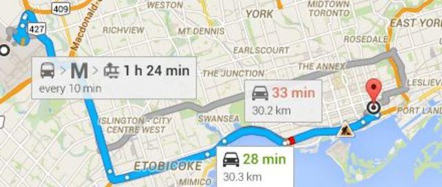 MAP Miami to Toronto