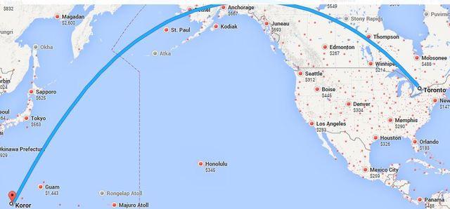Toronto, Canada to Koror, Palau