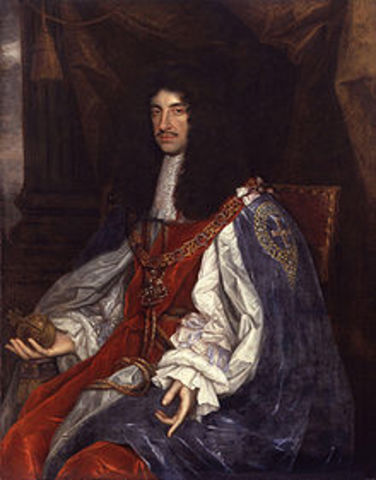 Puritan Commonwealth ends, monarchy is restored with Charles II