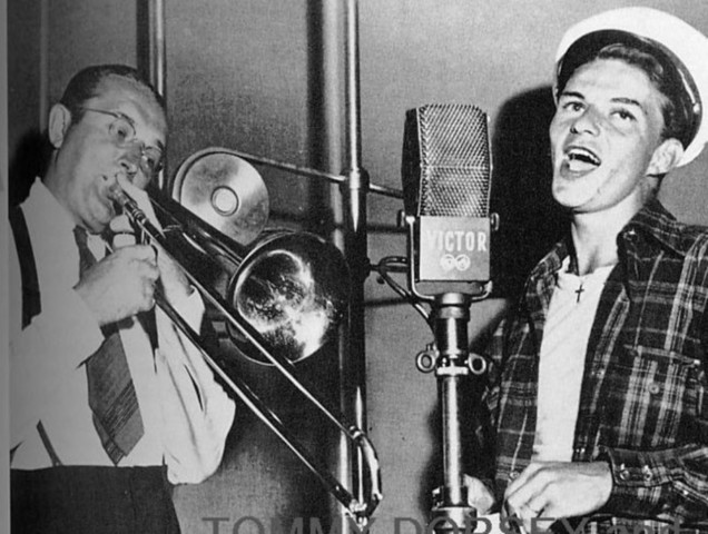 Frank Sinatra joined a band.