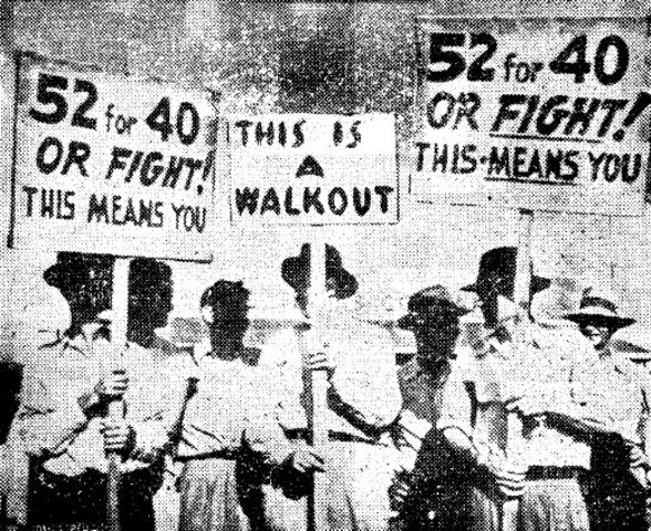 Dissatisfied workers organize strike