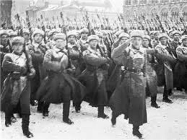 Russia enters World War I