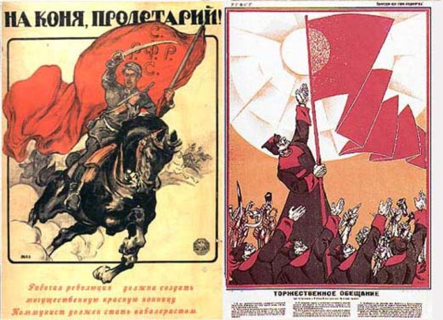 Civil War between Red and White Armies