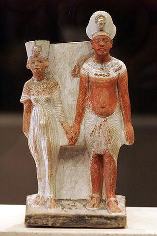 Ajenatón y Nefertiti