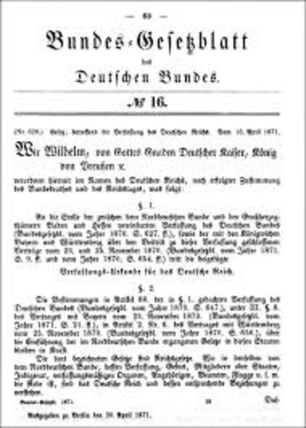 German Constitution Drafted by Bismark
