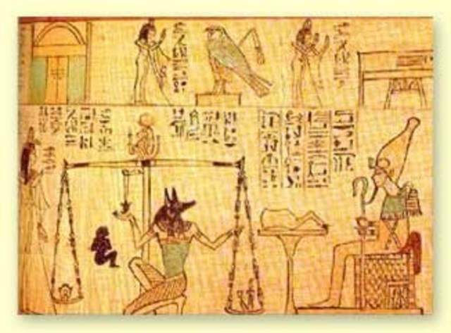 Egyptian papyrus scrolls 600 BCE
