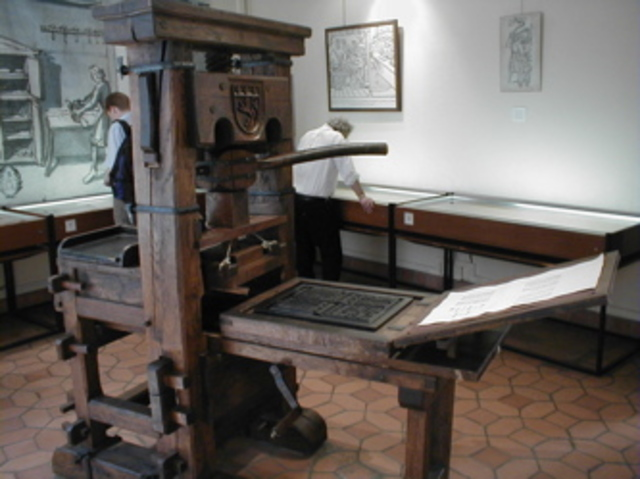 Gutenberg press (leads to Protestant Revolution, among other things)