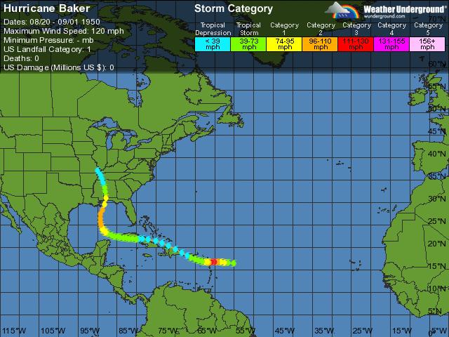 Hurricane Baker- Category 1