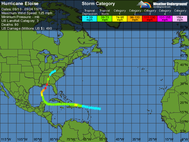 Hurricane Eloise- Category 1
