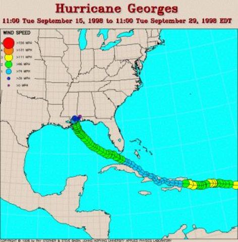 Hurricane Georges- Category 2