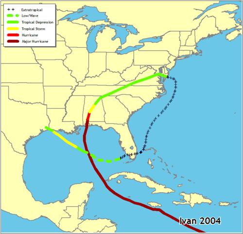 Hurricane Ivan- Category 3