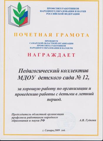 Достижения коллектива 2009г