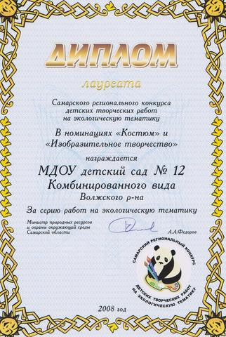 Достижения коллектива 2008г.