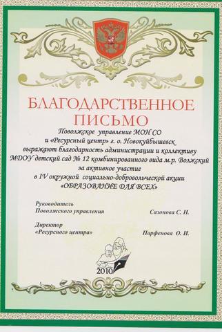 Достижения коллектива 2010г.