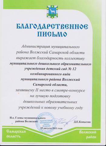 Достижения коллектива 2011г.