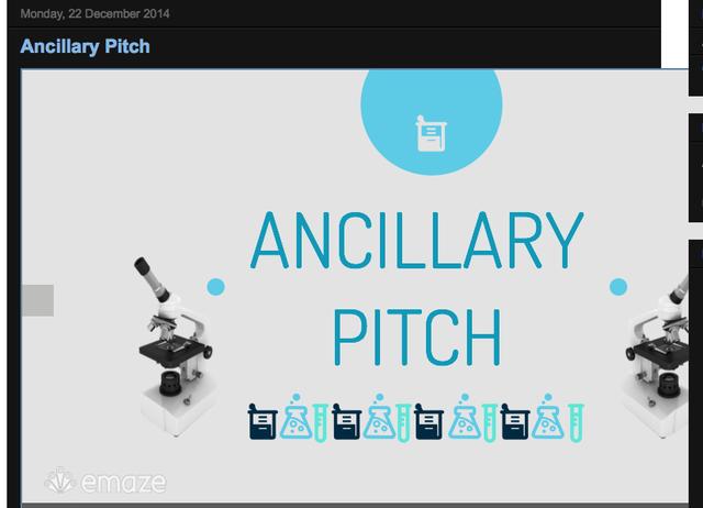 Ancillary pitch