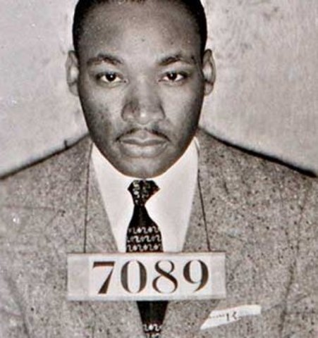 Martin Luther King Jr. going to jail!