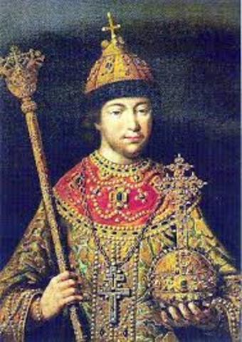 Венчание на царствование Михаила Феодоровича Романова