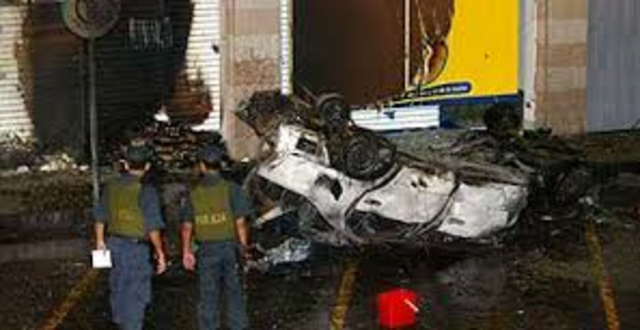 Nine people are killed and 30 wounded in a car bomb explosion near the U.S. Embassy in Lima. Peru.