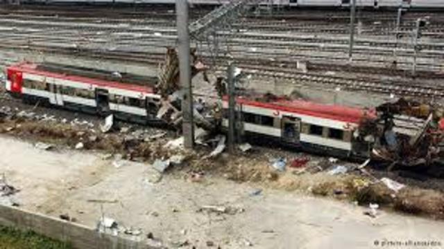 A co-ordinated bombing of trains in Madrid leaves more than 190 people dead and hundreds wounded