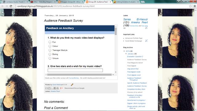 Evaluation: Survey monkey