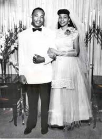 King married Coretta Scott