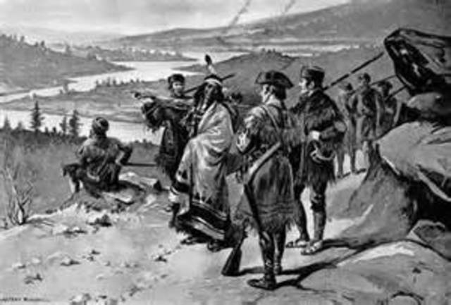 Fight with the Blackfeet Indians