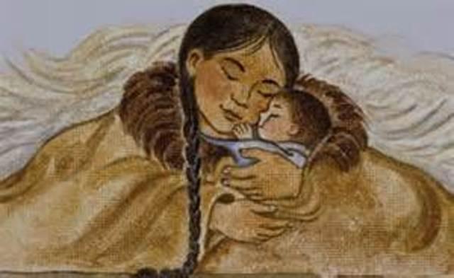 Sacajawea givs birth