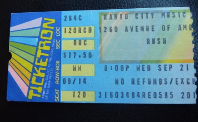 Rush Sells Out Radio City Music Hall