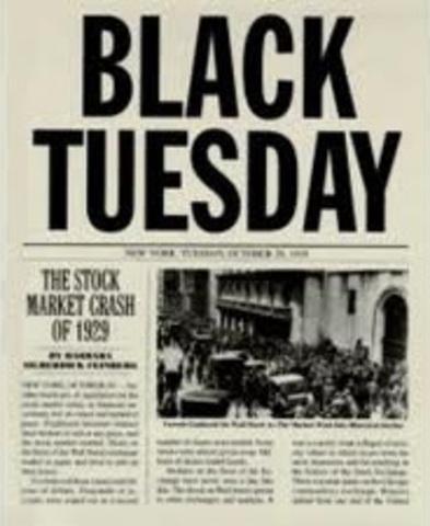 Stock Market Crashes (Black Tuesday)
