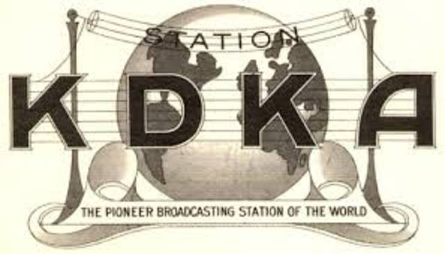 First Commercial Radio Broadcasts made
