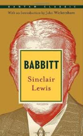 """Sinclair Lewis publishes """"Babbitt""""."""