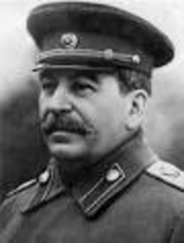Stalin assumes power in Russia