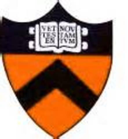 Princeton University Founded