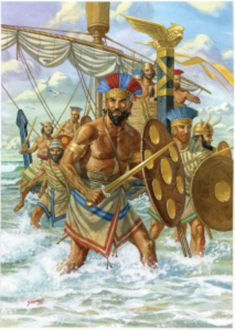 The Mycenaeans 1700 BCE to 1200 BCE.