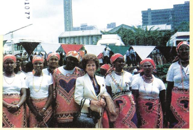Jeri Winger goes to Kenya for U.N Decade for Women Conference