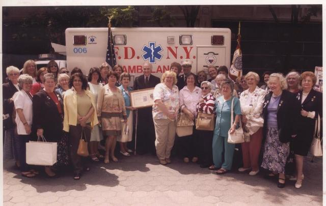 GFWC helps to purchase ambulance for New York City Fire Department after 9/11