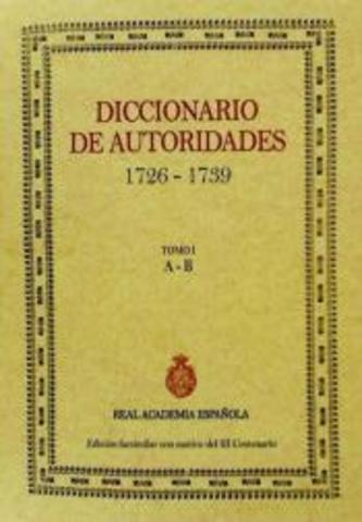 """Diccionario de autoridades"""""""