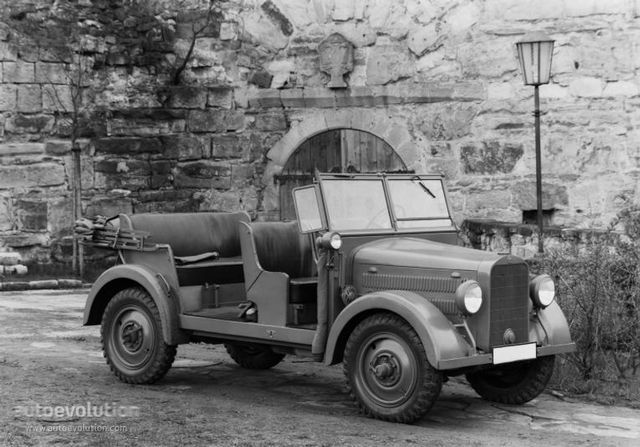 Mercedes- Benz developed an all-wheel-drive car, largely for military purposes.