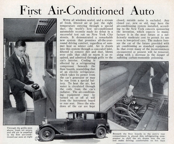 Packard introduced the first auto air-conditioning system.