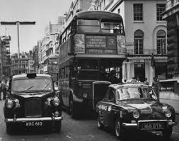 1st London minicabs were introduced.