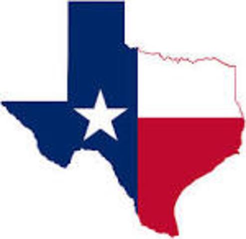 Texas colonized by Stephen F. Austin