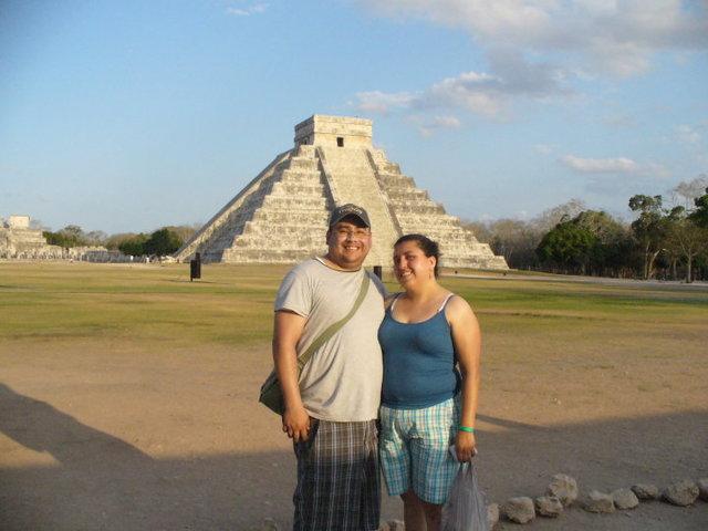 En la piramide de KuKulkan